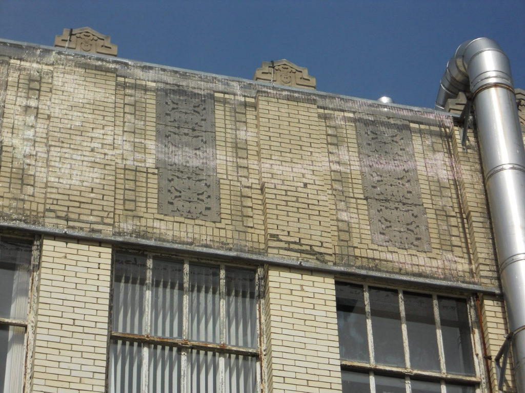 Exterior Brick Detail Before Restoration of 1819 Innovation Hub