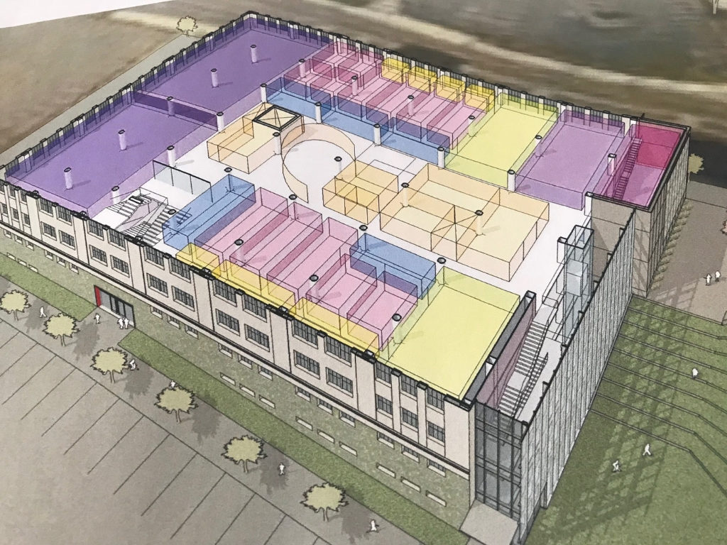 Cutaway Rendering of Second Floor of 1819 Innovation Hub