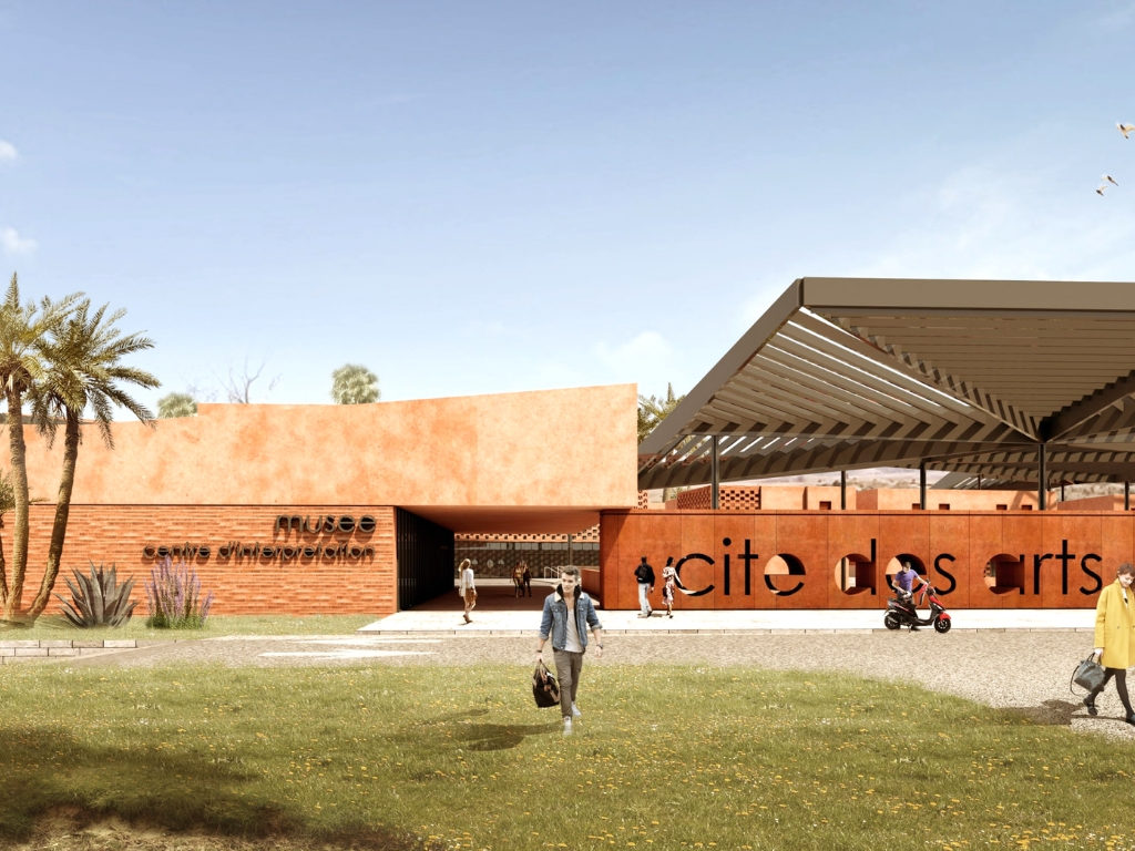 Exterior Rendering for Academy at Cite des Arts