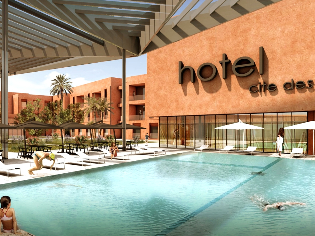 Hotel Pool Rendering for Cite des Arts
