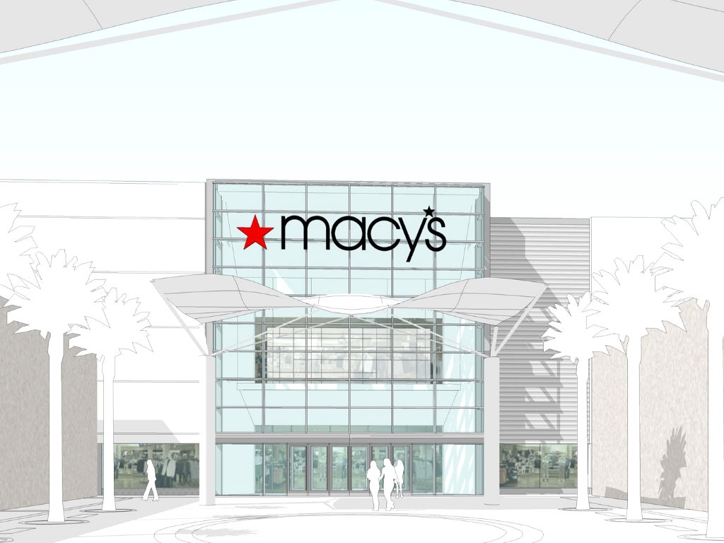 Main Entry Rendering for Macys Prototype Summerlin Nevada