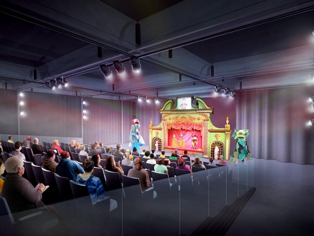 Rendering of Theater at Madcap Education Center
