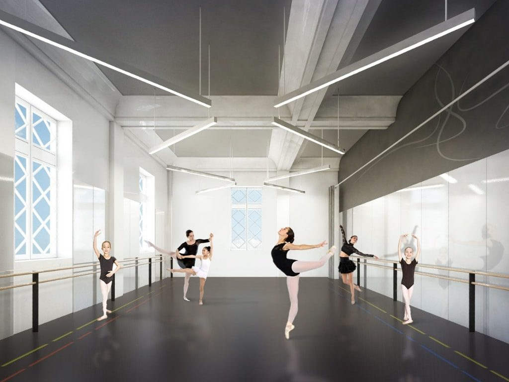 Rendering of Dance Studio at Madcap Education Center