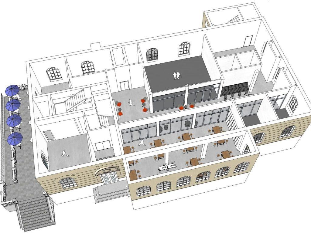 Cutaway Plan View of Madcap Education Center