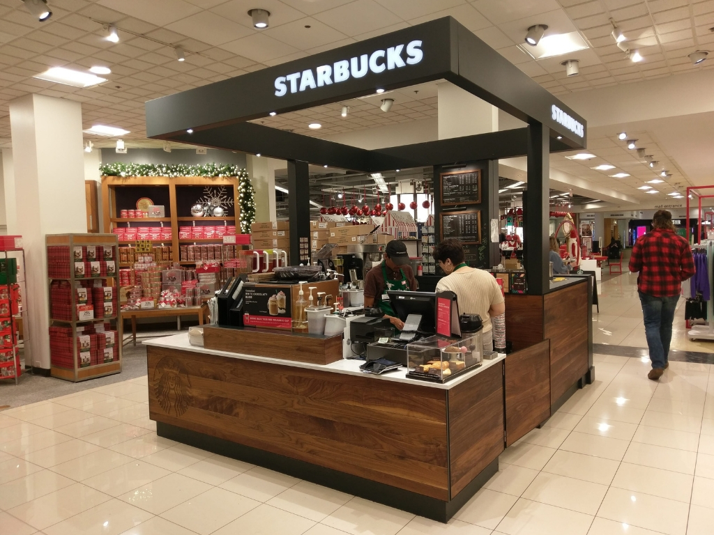 Starbucks Kiosk in Macy's Retailers and Food Service